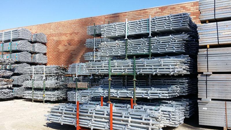 Хранение строительных лесов